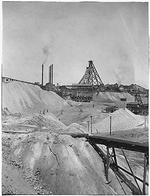 Copper King William Clark's Colorado Smelter and Butte Reduction Works was the largest ore-processing facility in Butte around the turn of the 20th century. Here and at right, the facility and the mine tailings waste it generated can be seen circa 1906.