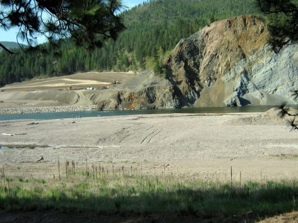The former Milltown Reservoir on the Clark Fork River near Missoula, Montana.