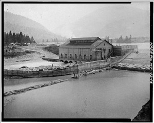 The Milltown Dam was constructed between 1905 and 1908 under the direction of Copper King William Clark to provide timber for his mines and smelters.