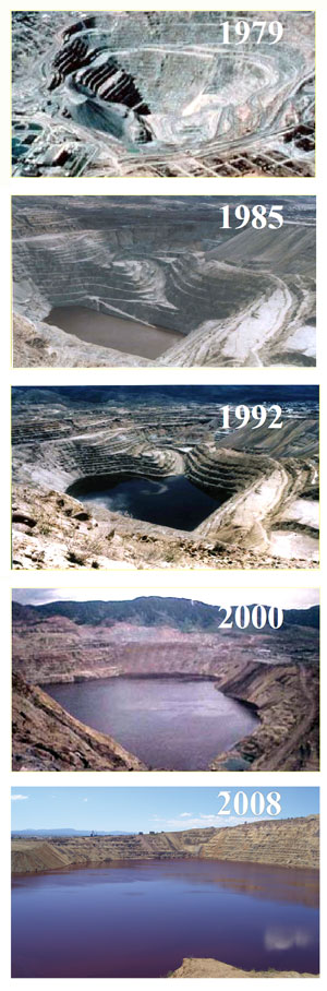 The Berkeley Pit over time.